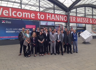 The apprentices spent two days at Hannover Messe, one of the world's largest trade fairs for industrial technology