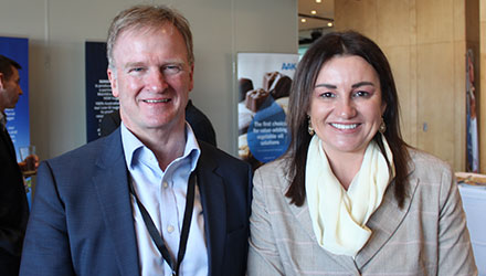 Tim Piper, Head of the Confectionery Sector, with Jacqui Lambie